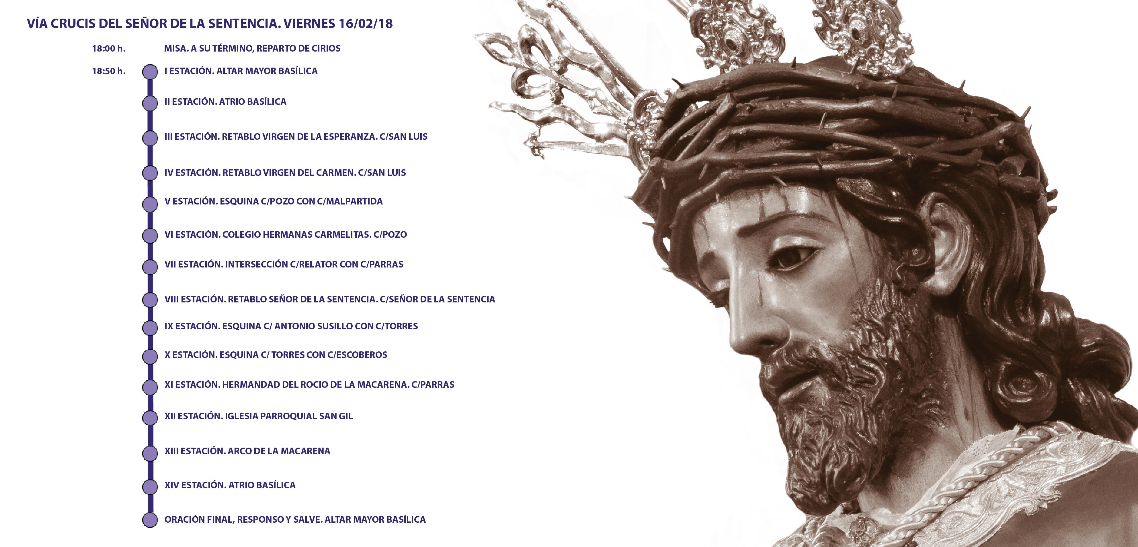 Infografía recorrido Vía Crucis 2018