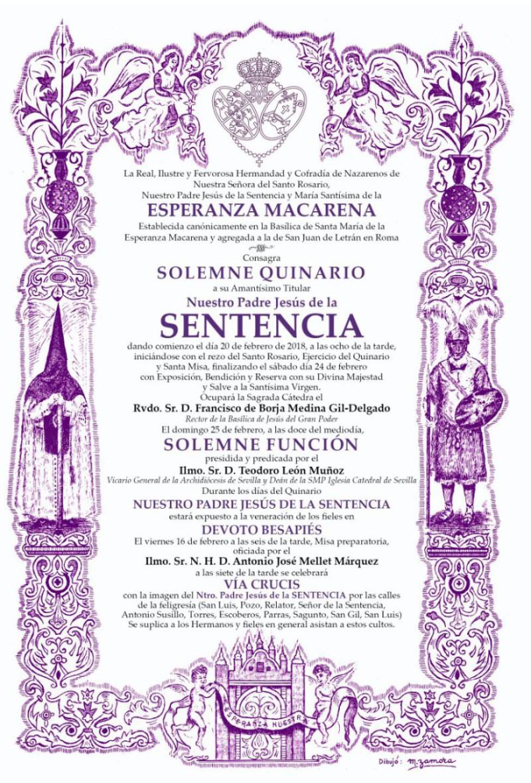 Convocatoria Quinario 2018