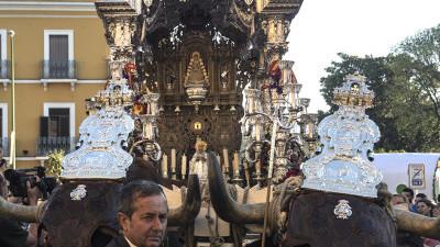 Rocío de la Macarena ante la Basílica