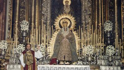 Fray Ricardo de Córdoba predicando en la Basílica